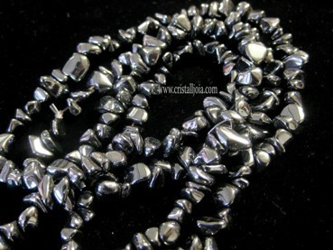 COLLAR CHIP LARGO DE HEMATITE