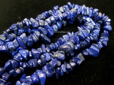 COLLAR CHIP LARGO DE LAPISLAZULI
