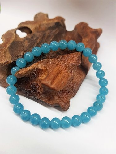 Angekite 6mm Round Bead Bracelet