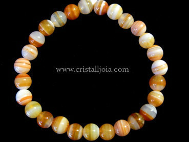 Red Agate 6mm Round Bead Bracelet