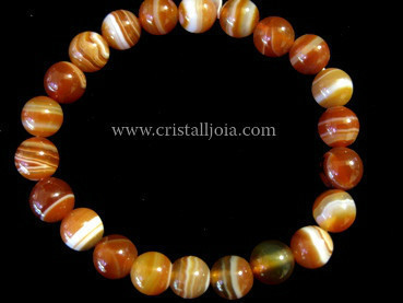 Red Agate 8mm Round Bead bracelet