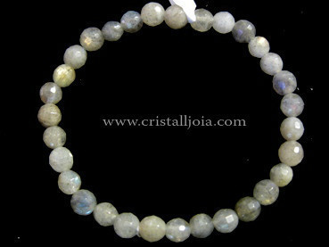 Labradorite Bracelet Round Bead Faceted 6mm