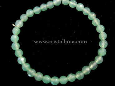 Aventurine Bracelet Round Beads Faceted 6mm