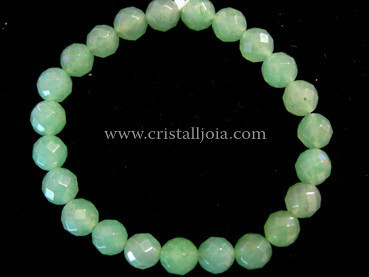 Aventurine Bracelet round Beads faceted 8mm