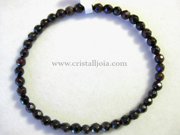 Pulsera Granate Bola Facetada 4mm