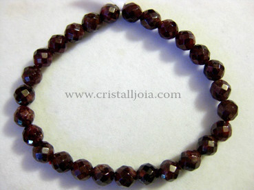 Pulsera Granate Bola Facetada 7mm