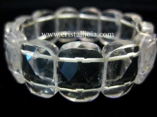 QUARTZ CRYSTAL - SQUARE  BRACELET FACETED