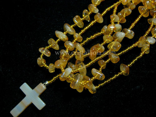 Citrine tumbled rosary