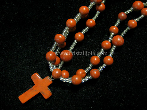 Red jasper ball rosary