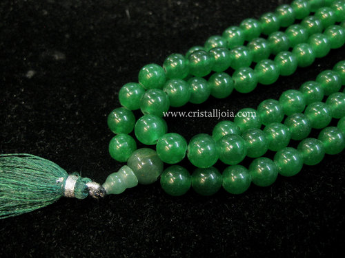 Mala of 108 green agate balls