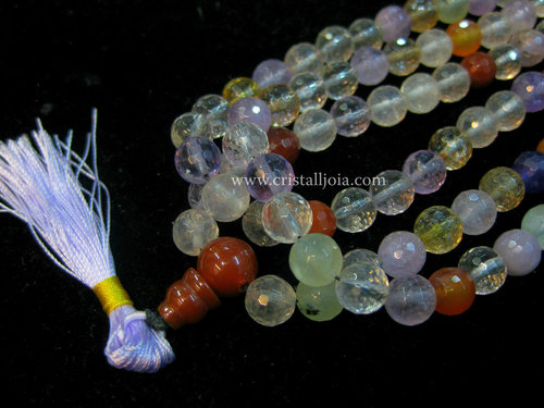 Mala of 108 assorted quartz balls