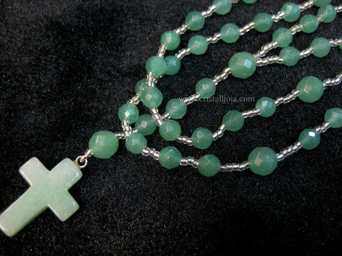 Green aventurine ball rosary