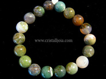 Pulsera Bola De Agata India De 10Mm