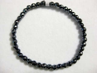 Bracelet Beads Hematite Faceted 4mm