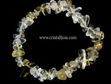 CITRINE BRAZALETE de CHIP NATURAL