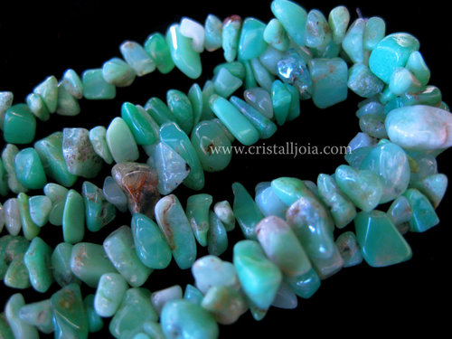 CHRYSOPRASE LONG CHIP NECKLACE