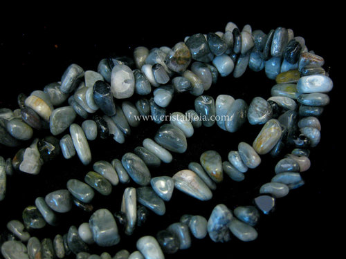 CAT´S EYE STONE LONG CHIP NECKLACE