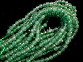 green aventurine 4mm faceted ball strands
