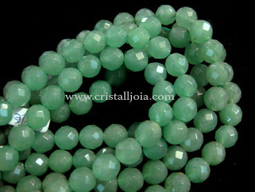 Green aventurine 8mm faceted ball beads strands