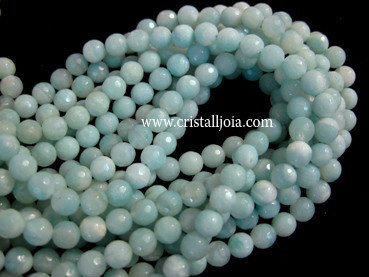 Amazonite 6mm faceted ball strands