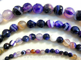 Violet Agate Beads