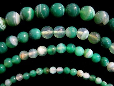Green Listed Agate Beads