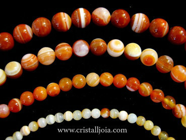 Red Listed Agate Beads