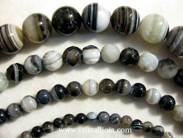 Black Listed Agate Beads