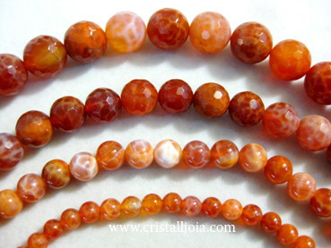 Fire Agate Beads
