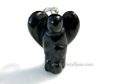BLACK ONYX ANGEL PENDANT