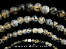 Spider Agate Beads