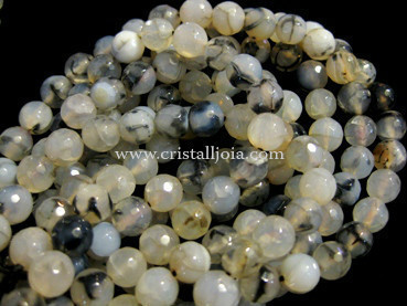 Spider agate 8mm faceted ball beads strands