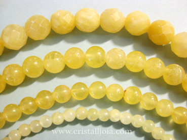 Yellow Calcite Beads