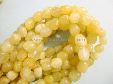Calcite yellow 7x9mm nugget beads