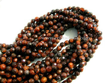 bull's eye 4mm faceted ball strands