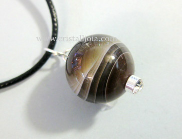 Agata Bostwana  Ball Pendant 16Mm