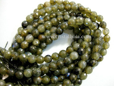 Labradorite 6mm Faceted Round Beads
