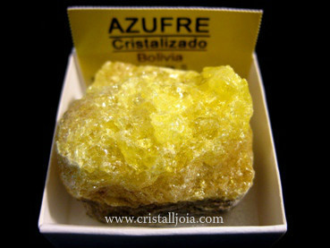 Crystallized Sulfur Mineral Collection 4X4
