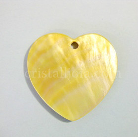 Pearl Heart Pendant 35x35mm