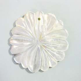 Pearl Flower Pendant 47x47mm