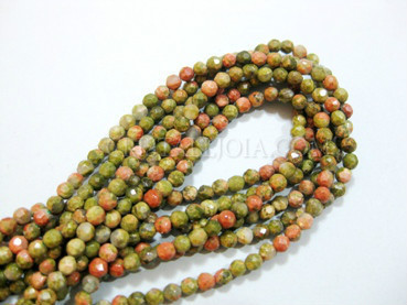 Unakita 3mm faceted ball strands
