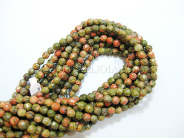 unakita 4mm faceted ball strands