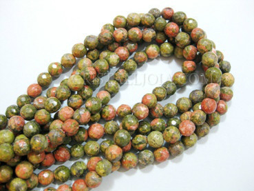 unakita 6mm faceted ball strands