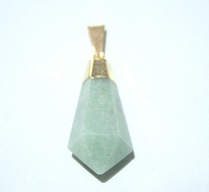 Green Aventurine Conical Point Pendant