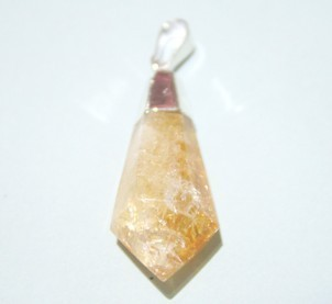 Citrine Conical Point Pendant