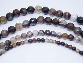 Brown Listed Agate Beads