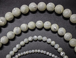 White Mother Of Pearl Beads