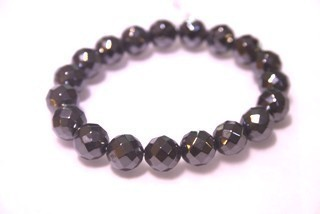 Bracelet Beads Hematite Faceted 10mm