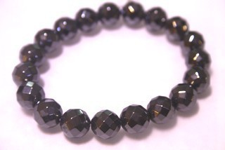 Bracelet Beads Hematite Faceted 12mm