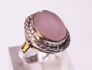 rose quartz ring ref: qro03101